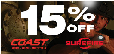 15% Off Coast and Surefire