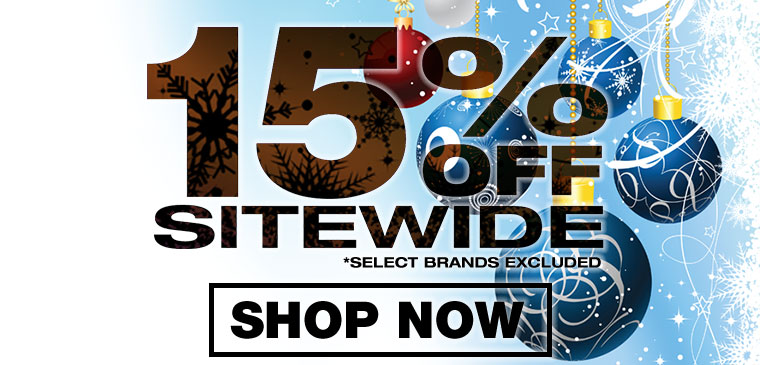 15% off sitewide* | limited time only