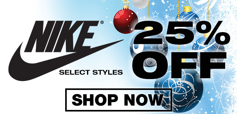 25% off Nike Select Styles