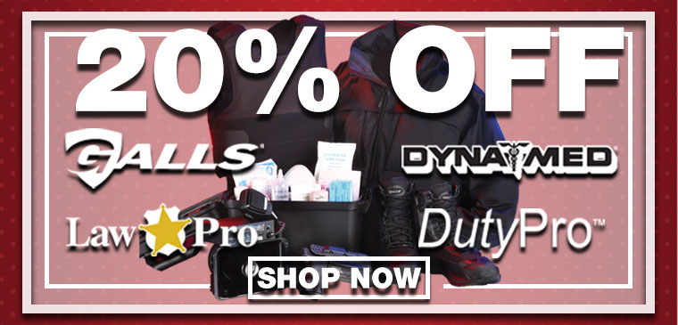 20% OFF Galls, LawPro, Dynamed, DutyPro