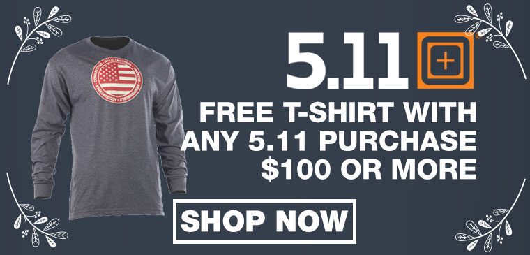 Free T-shirt with 5.11 Purchase
