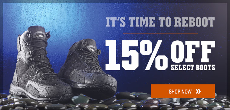 15% off select boots