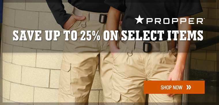 25% off select Propper