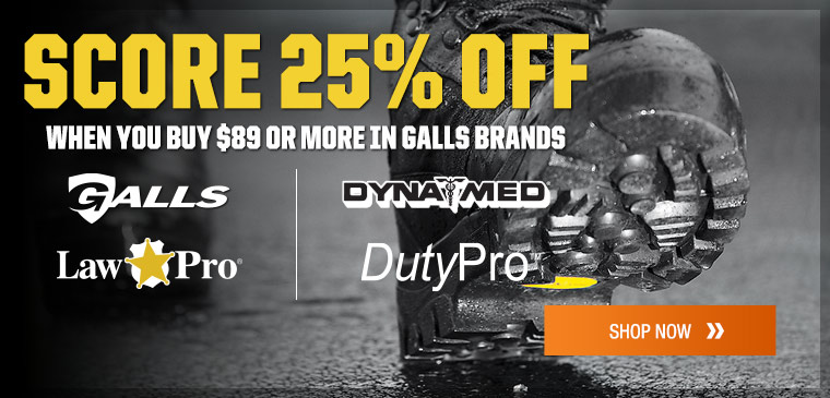 Save 25% on select Galls brands