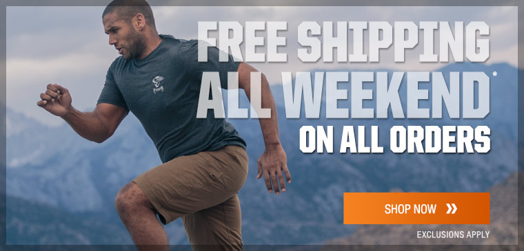 Free shipping all weekend