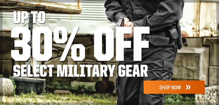 Up to 30% off select military gear