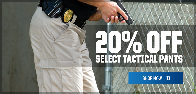20% off select tactical pants