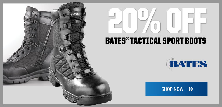 20% off Bates tactical sport boots