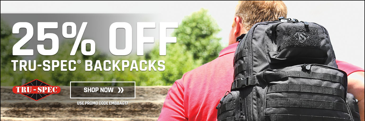25% off Tru-spec backpacks