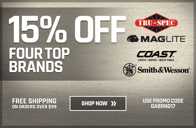 15% Off Four Top Brands