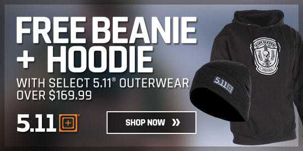 Free Beanie + Hoodie with Select 5.11 Outerwear