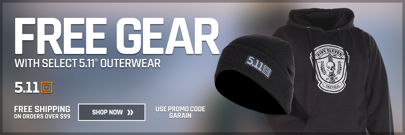 Free gear with select 5.11 outerwear