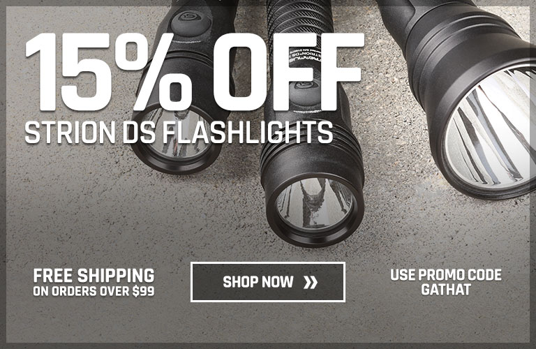 15% off select Strion DS flashlights