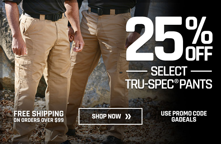 25% off Select Tru-Spec Pants