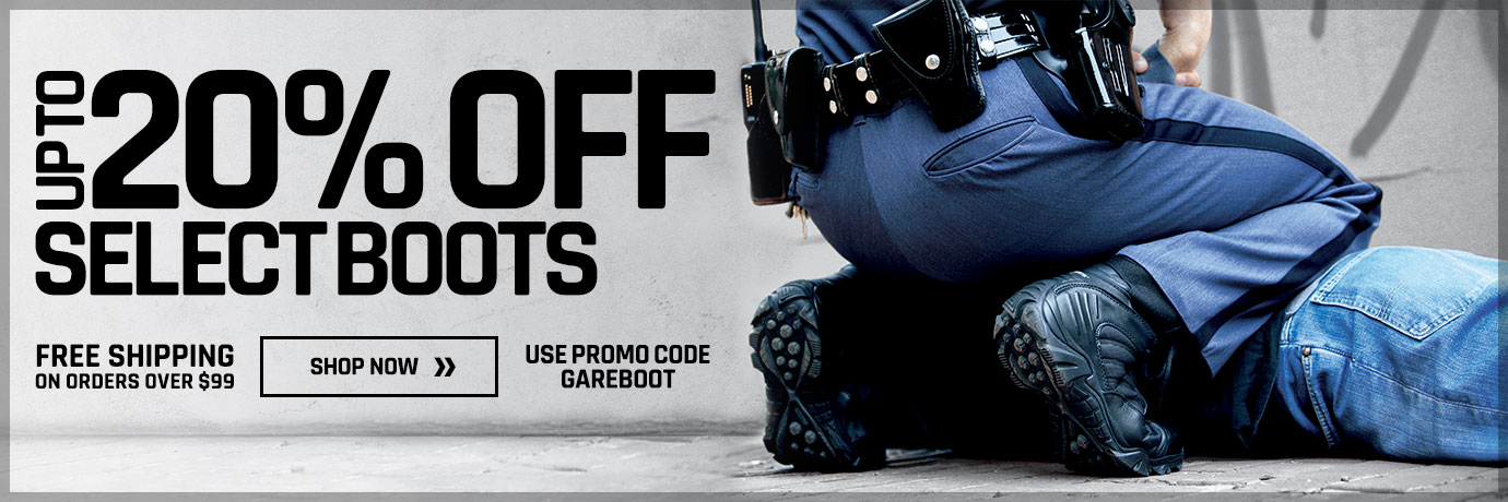 20% off Galls and LawPro Boots