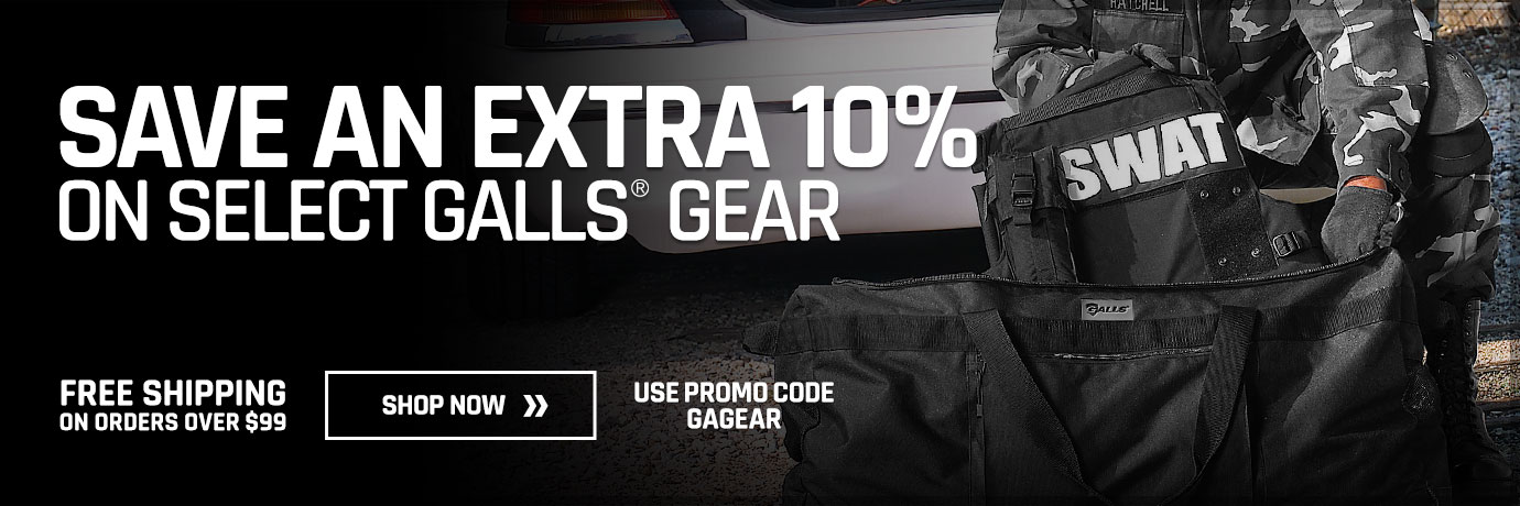 Save an extra 10% on select Galls Gear