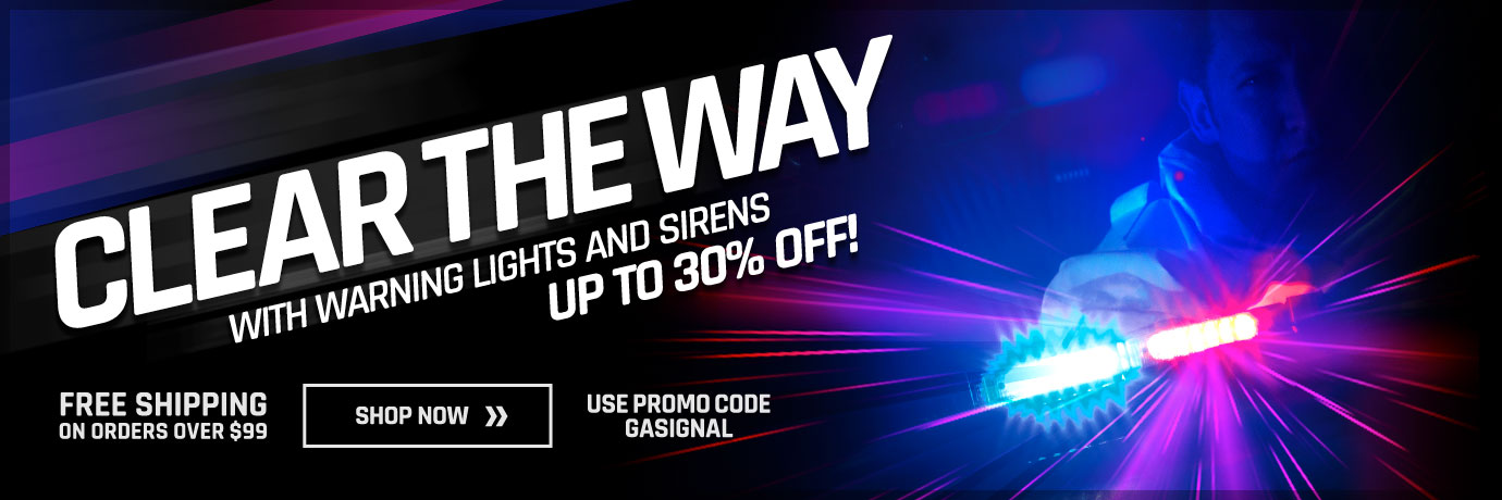 Clear the Way with Savings on Warning Lights & Sirens