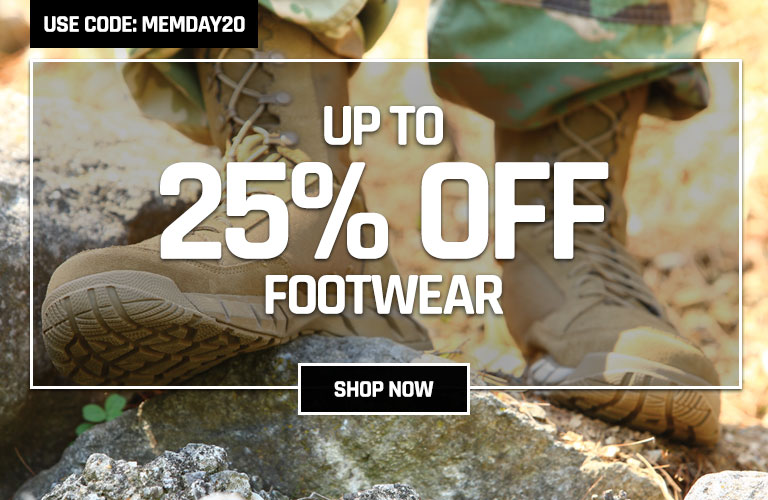Up to 20% off select footwear