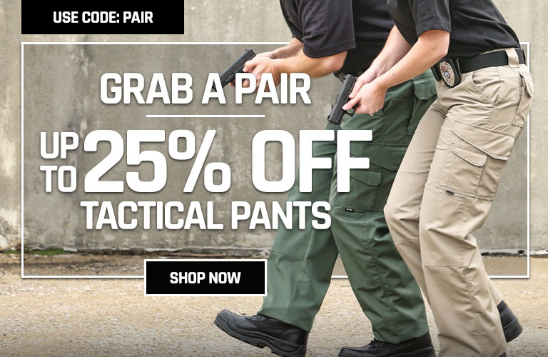Up to 25% off select tactical pants