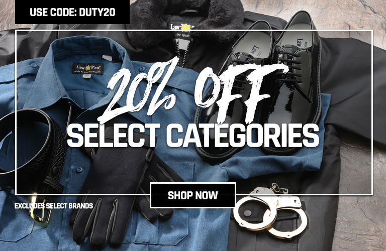 20% off select categories