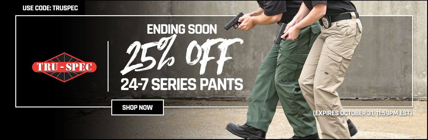 Ending Soon - 25% off TRU-SPEC 24-7 Pants