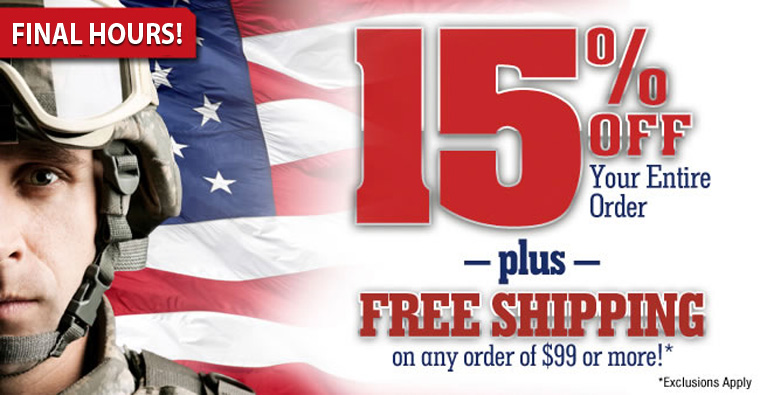 Memorial Day Sale - 15% Off Sitewide Plus FREE Shipping On Any Order Over $99!