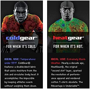 under armour heat gear. under armour signature moisture transport system, coldgear or heatgear? heat gear