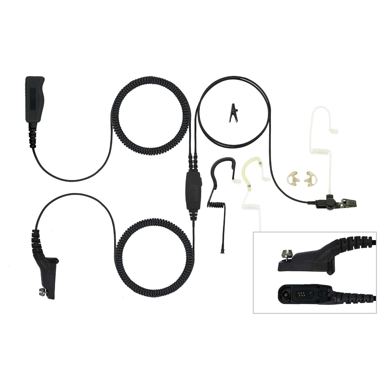 EarHugger Three-Wire Kit for Motorola Turbo/APX/XPR   Turbo Motorola Mic Wire Diagram      Galls