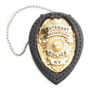 Strong Clip-On Recessed Badge Holder (Standard with Chain)