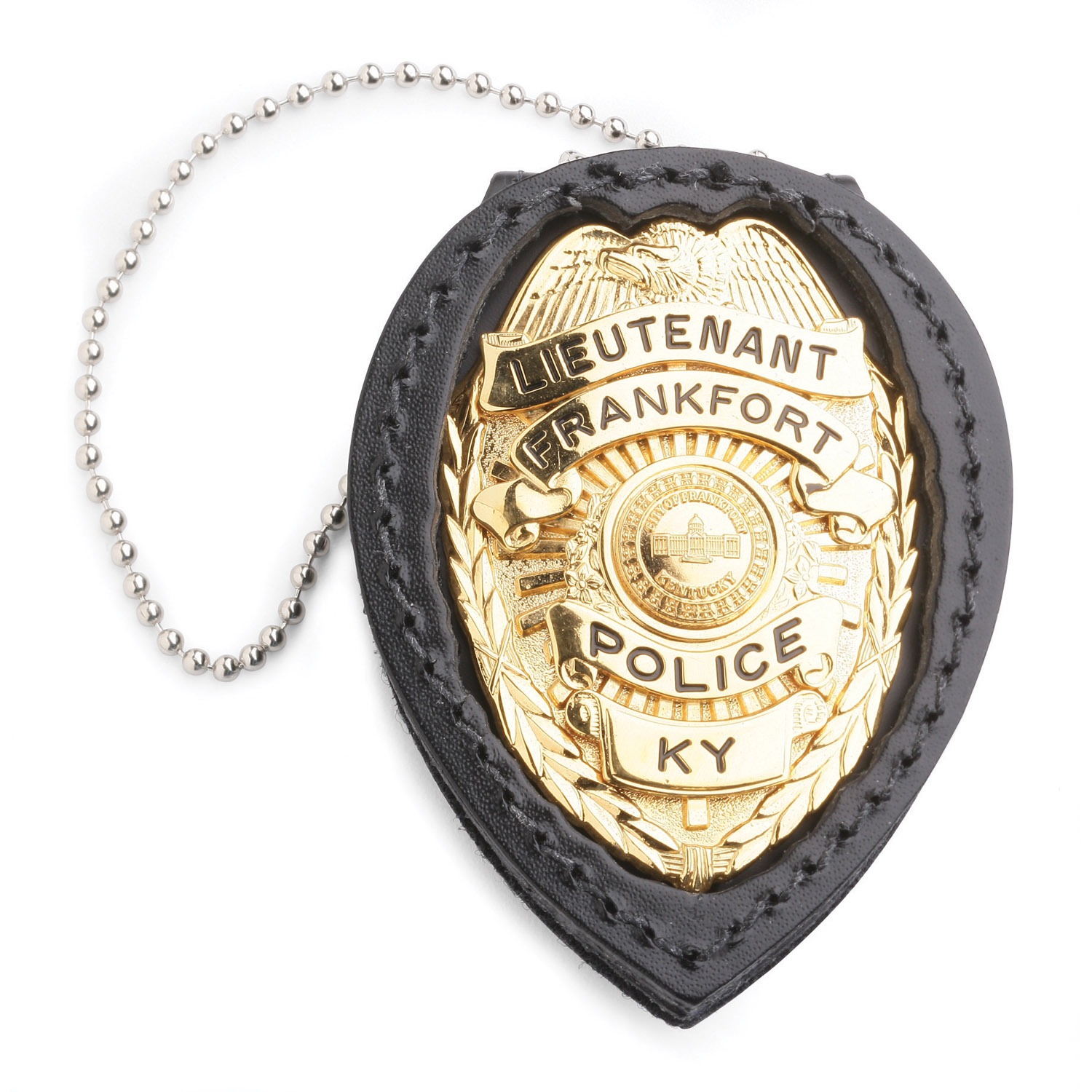 Strong Clip On Recessed Badge Holder (Standard with Chain)