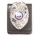 LawPro Magnetic Pocket and Belt Leather Badge Holder