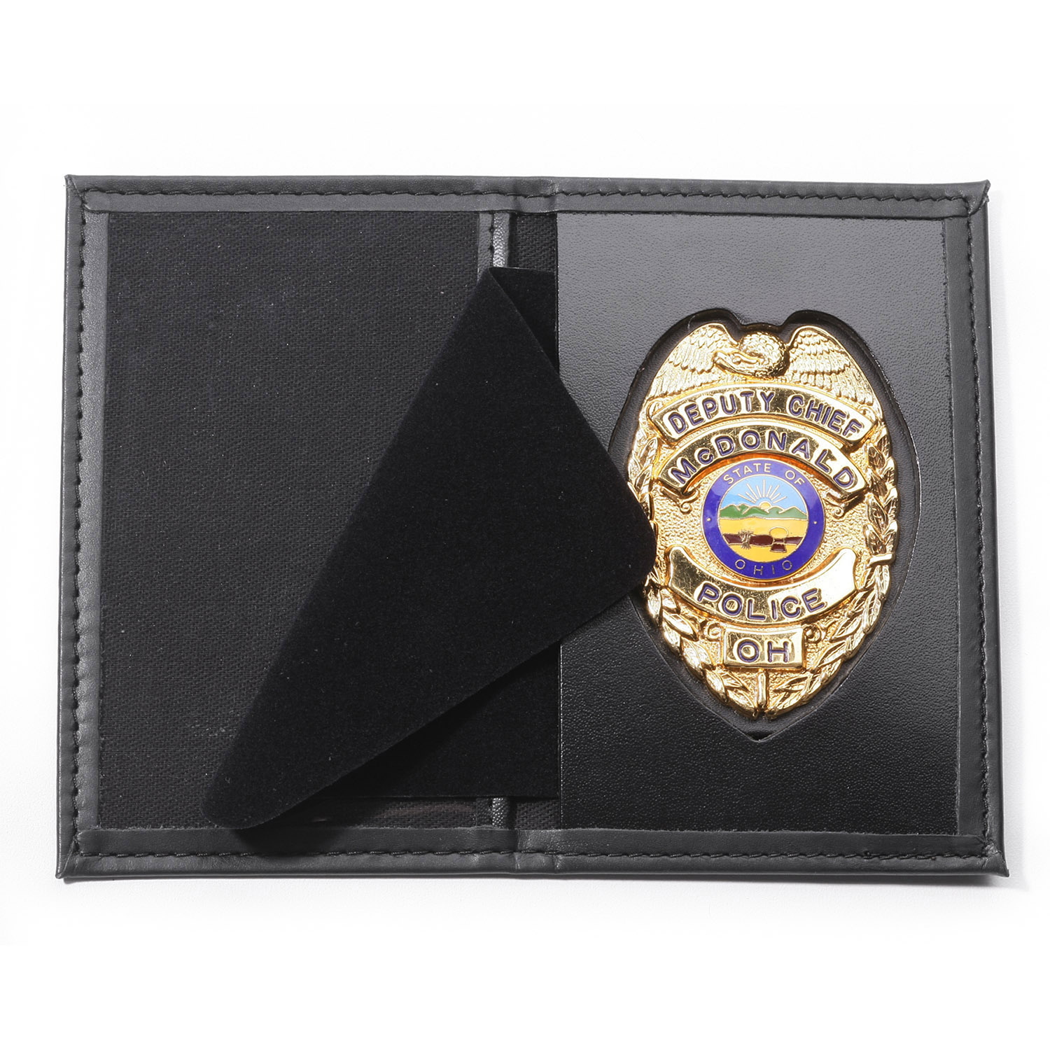 Perfect Fit Dress Leather Recessed Badge and Single ID Case