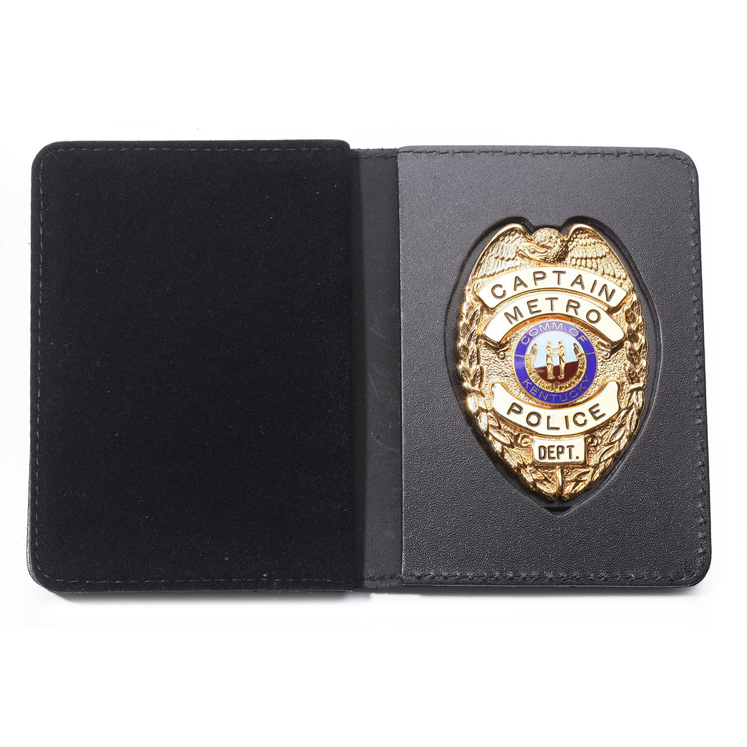 Perfect Fit Duty Leather Recessed Badge and Double Identific