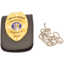 Smith and Warren Duty Leather Universal Neck Chain Badge and ID Holder