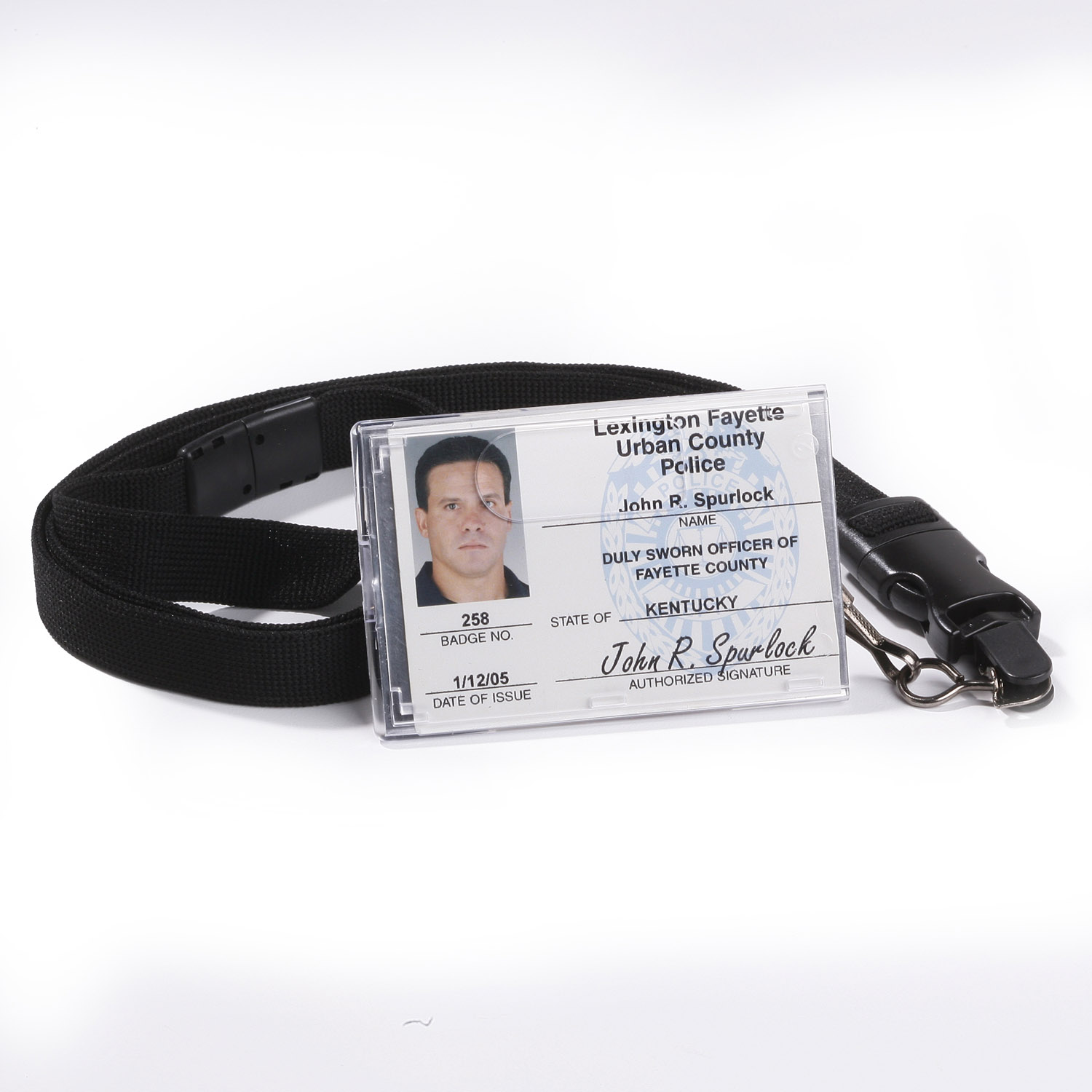Strong RFID Protected Clear Rigid Card Holder with Lanyard