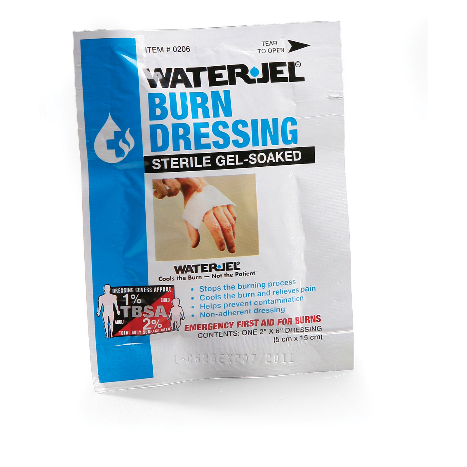 "Water-Jel Sterile Burn Dressing 2"" x 6"""