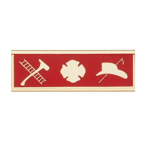 Blackinton Commendation Bar Maltese Cross with Fire Scramble