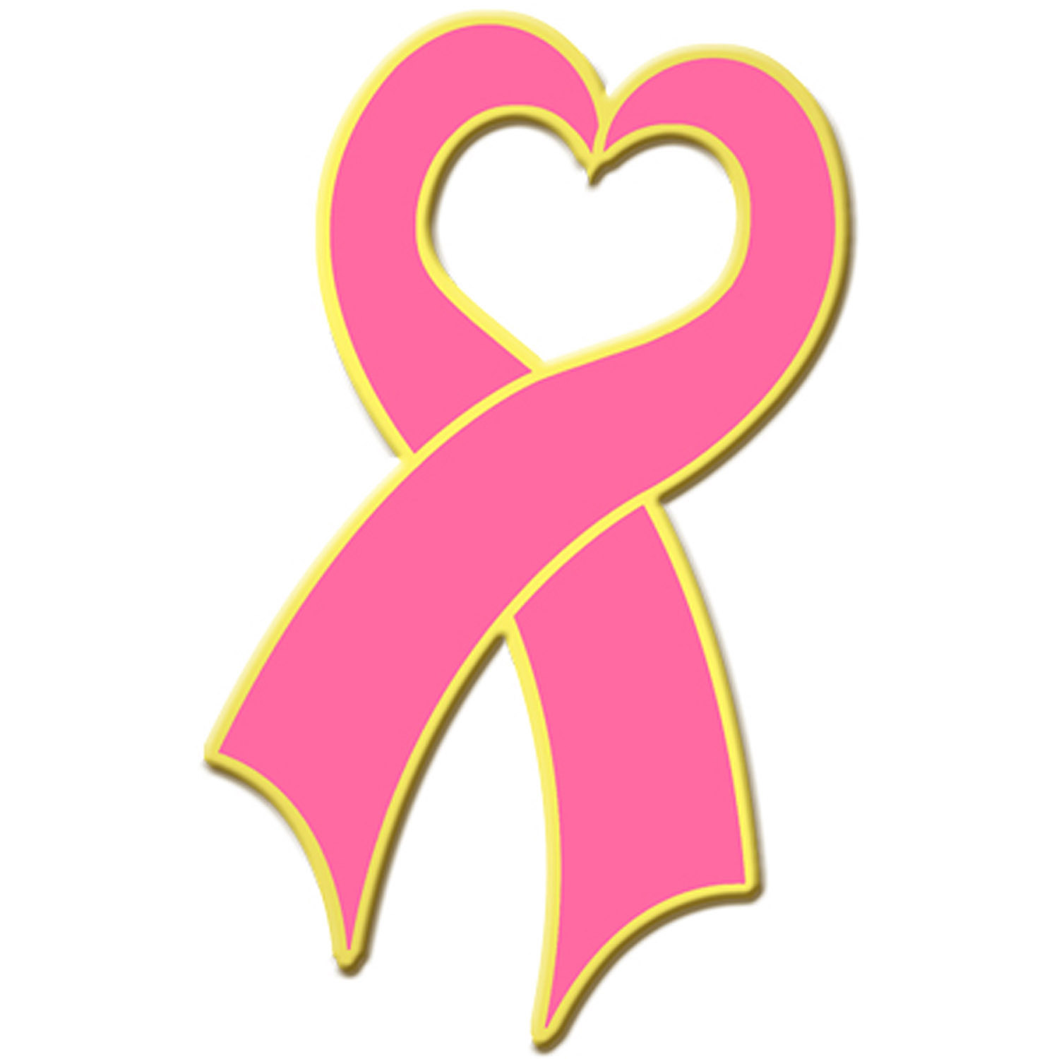 Blackinton Gold Plate Breast Cancer Awareness Heart Ribbon L