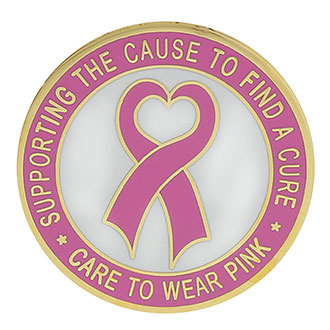 4cae406659a Galls Gold Plate Breast Cancer Awareness Heart Ribbon Pin