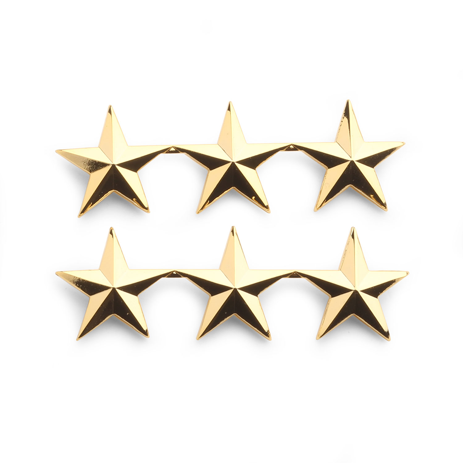 """Police Chief//Sheriff 4 stars 1//2/""""  Cluster Silver Pair Collar Pins Rank Insignia"""