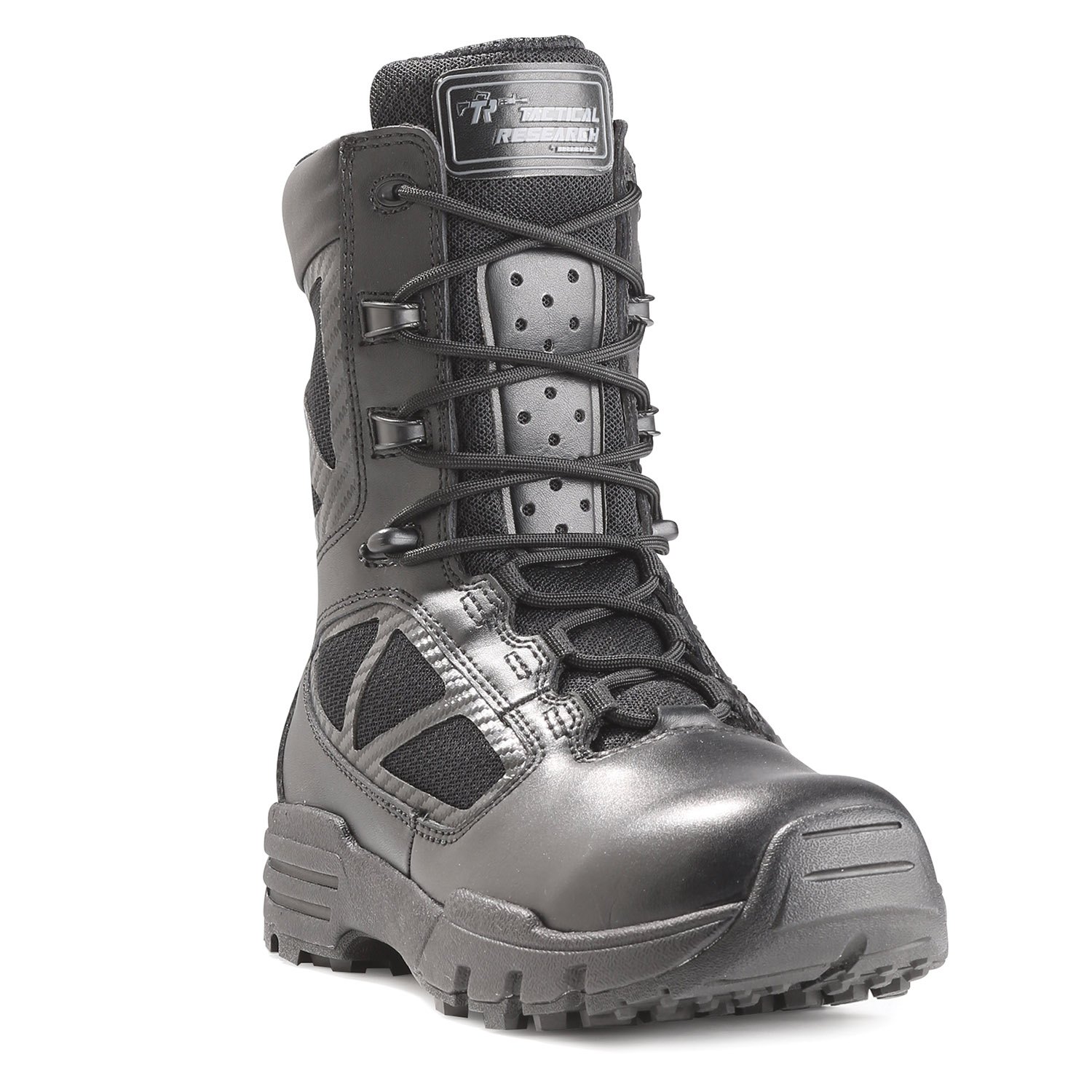 "Tactical Research 8"" Chrome Side Zip Boot"