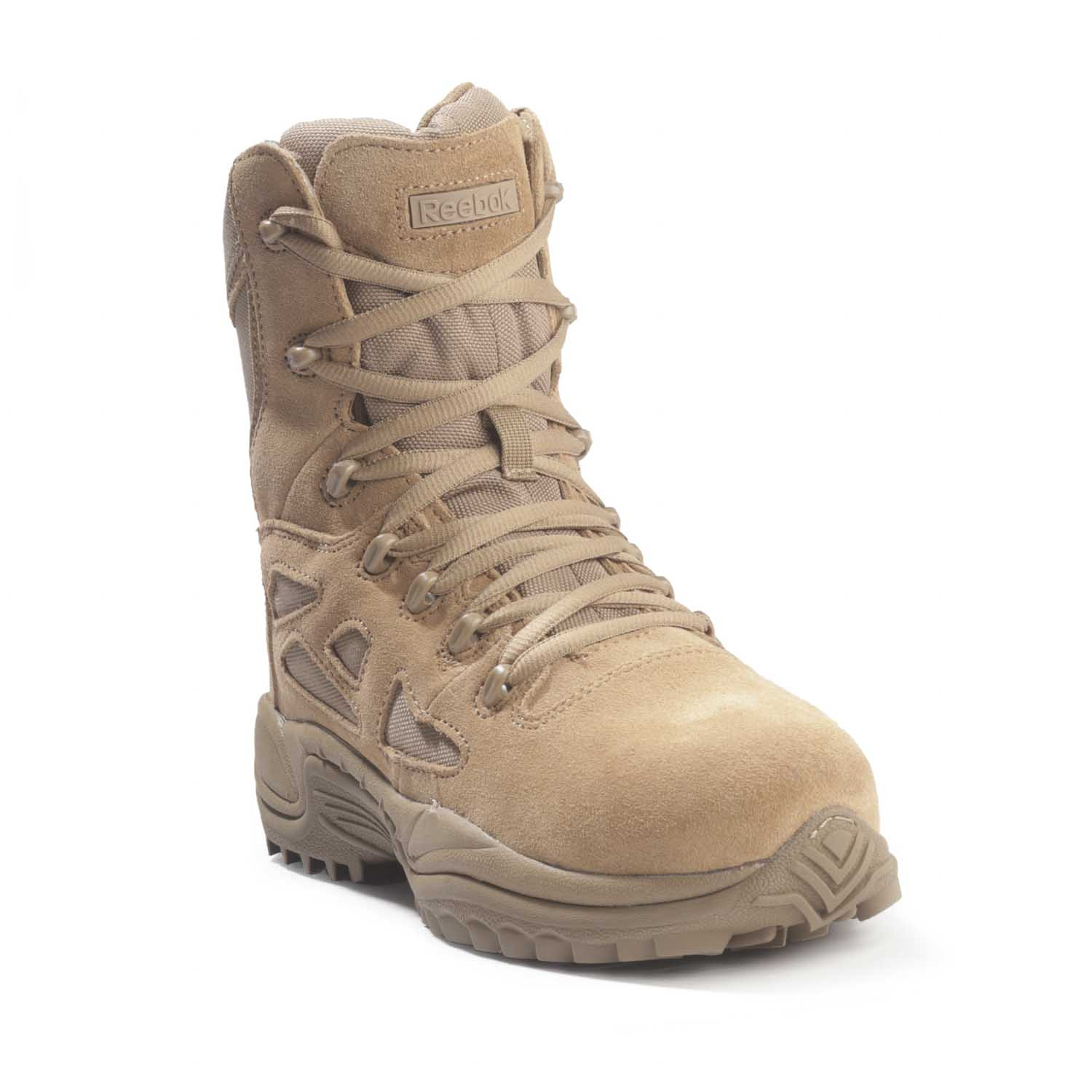 "Reebok Rapid Response 8"" Stealth Side Zip Coyote Boot"