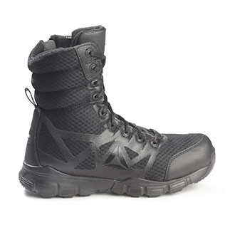 "REEBOK DAUNTLESS ULTRA-LIGHT 8/"" Side-Zip Black Tactical Boots RB8720"