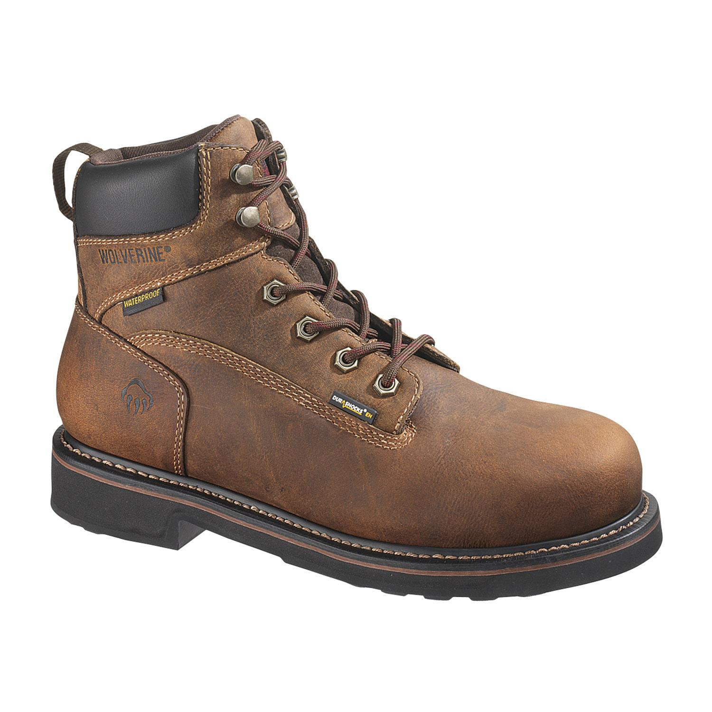 wolverine 6 quot brek durashocks waterproof steel toe boot