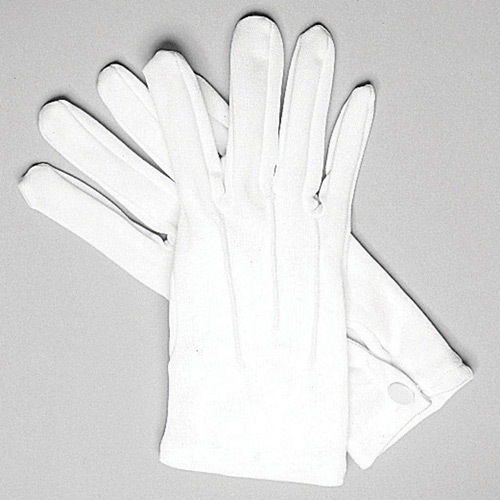 Hatch White Dress Parade Gloves - Cotton