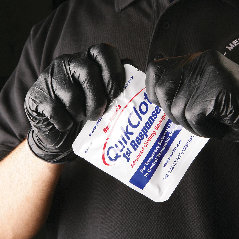 Dyna Med Black Nitrile Gloves 100 Count Box