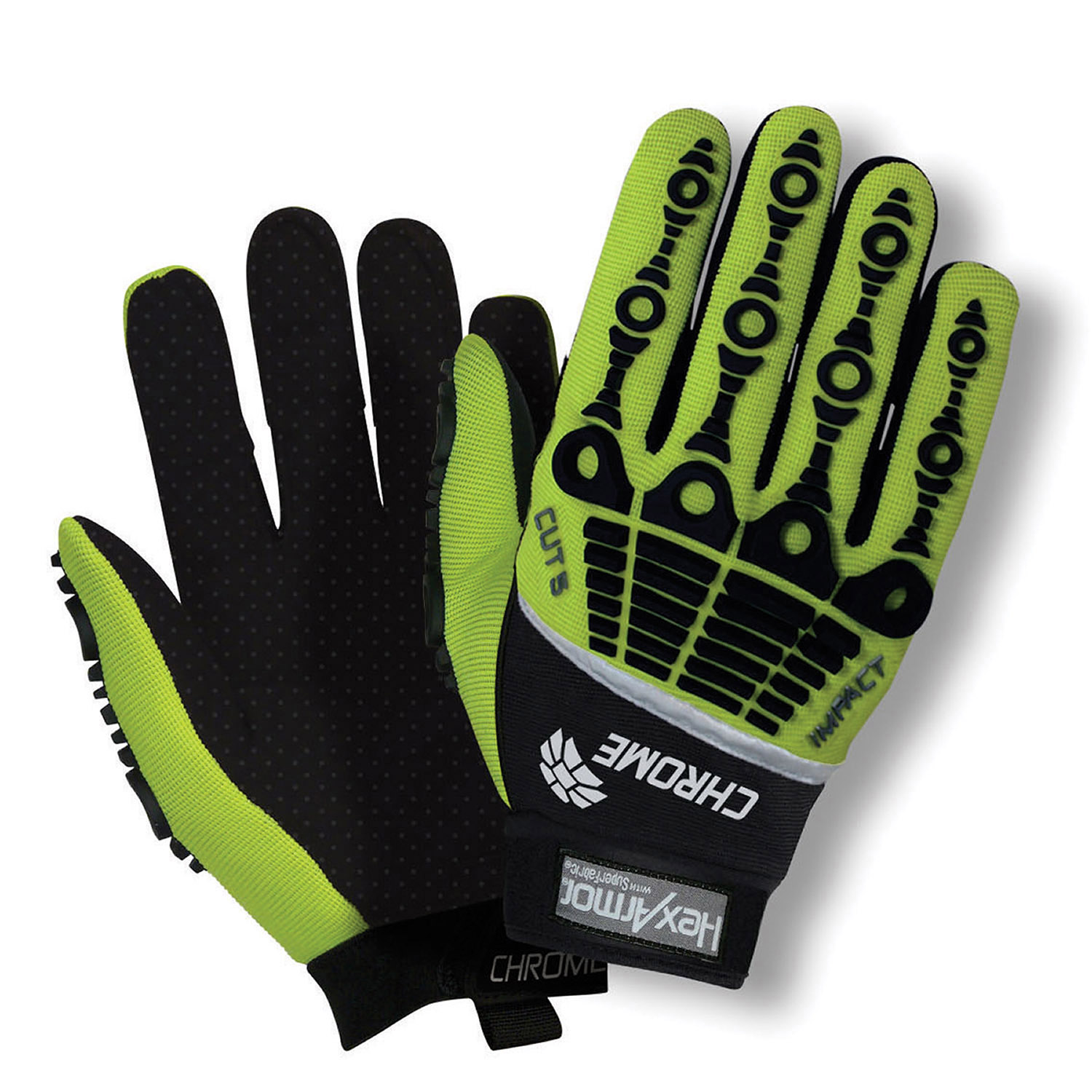 HexArmor Hi Viz Impact Cut Level 5 Glove