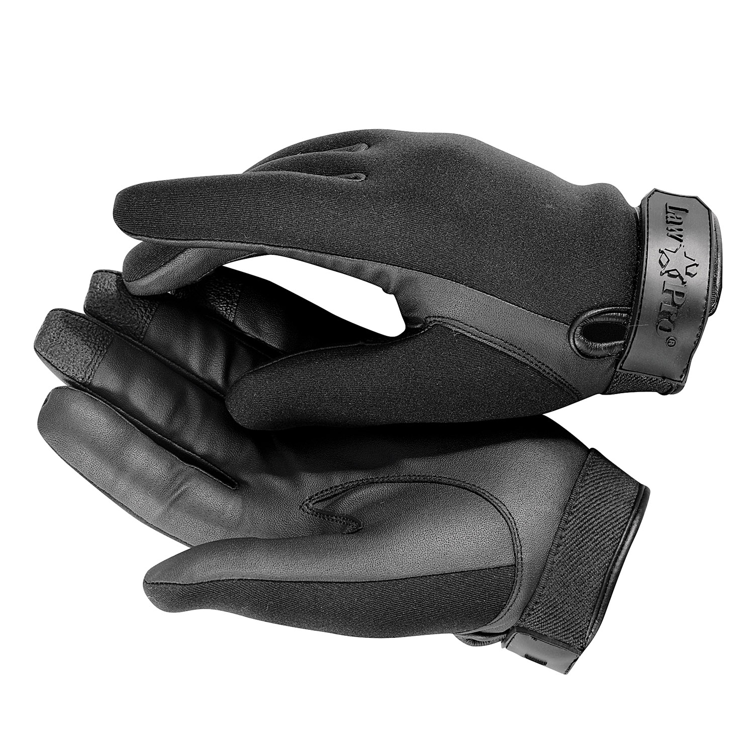 Black leather uniform gloves - Lawpro Neoprene Cutresistant Uniform Gloves