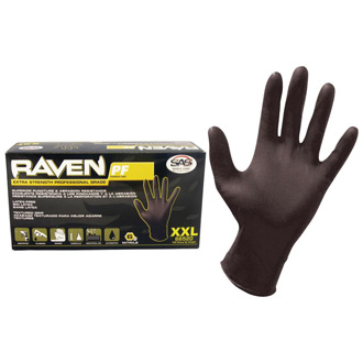 SAS Safety Raven Black Nitrile Glove