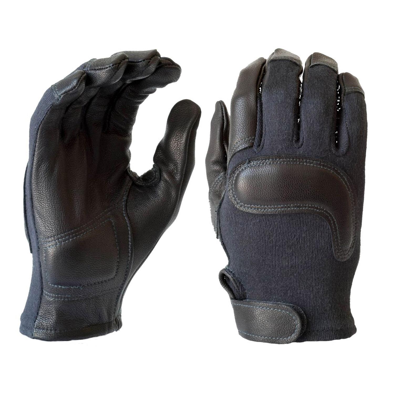 Black leather combat gloves - Hwi Gear Combat Gloves